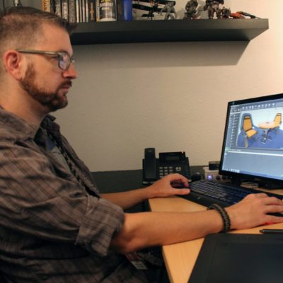 Dan Greenfield working in Unreal Engine